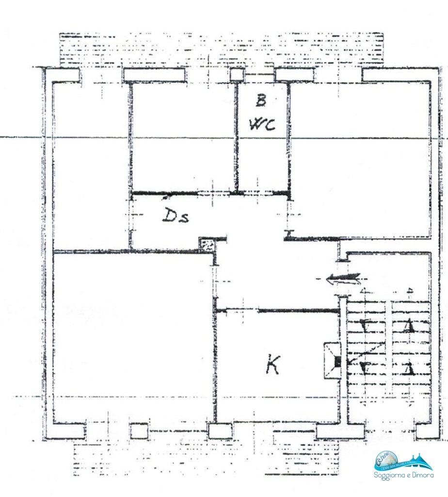 Appartamento 2°piano con 3 camere da letto