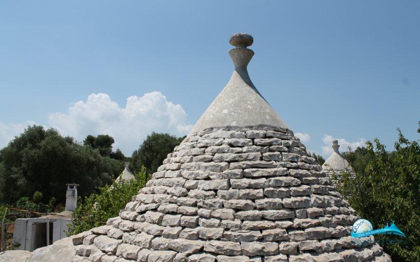 Trulli originali 9 coni e lamie in posizione panoramica